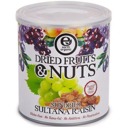 Earth Organic Dried Fruits & Nuts Sundried Sultana Raisin (325g)