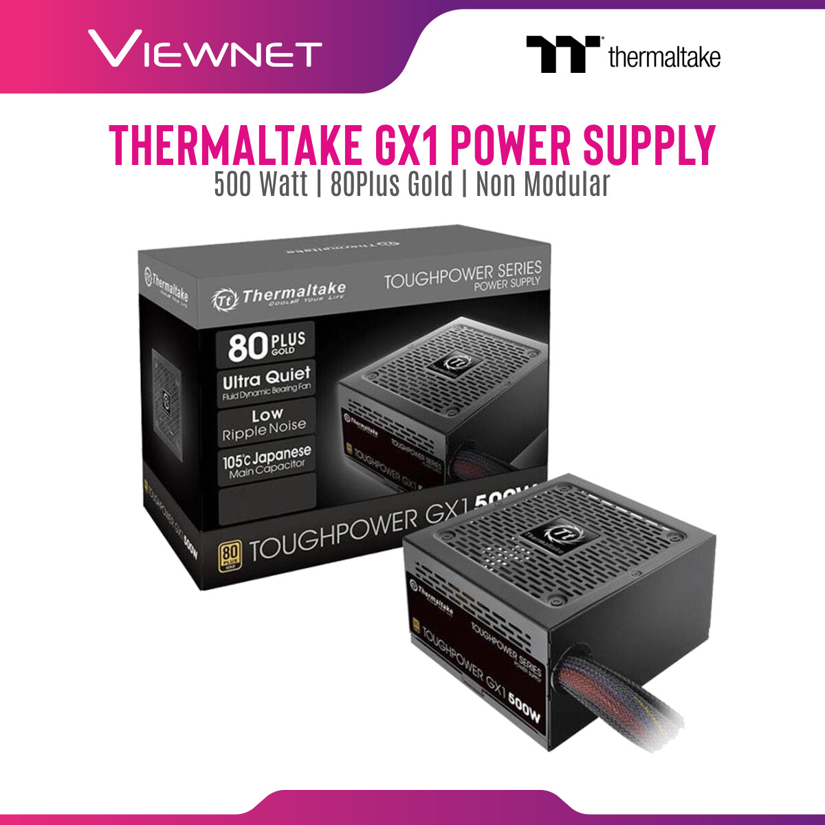 Thermaltake (PS-TPD-0500NNFAGK) Power Supply GX1 500W 80Plus Gold