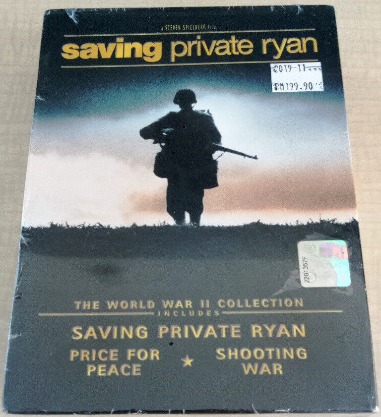 English Movie The World War II Collection - Saving Private Ryan / Price For Peace / Shooting War 3DVD