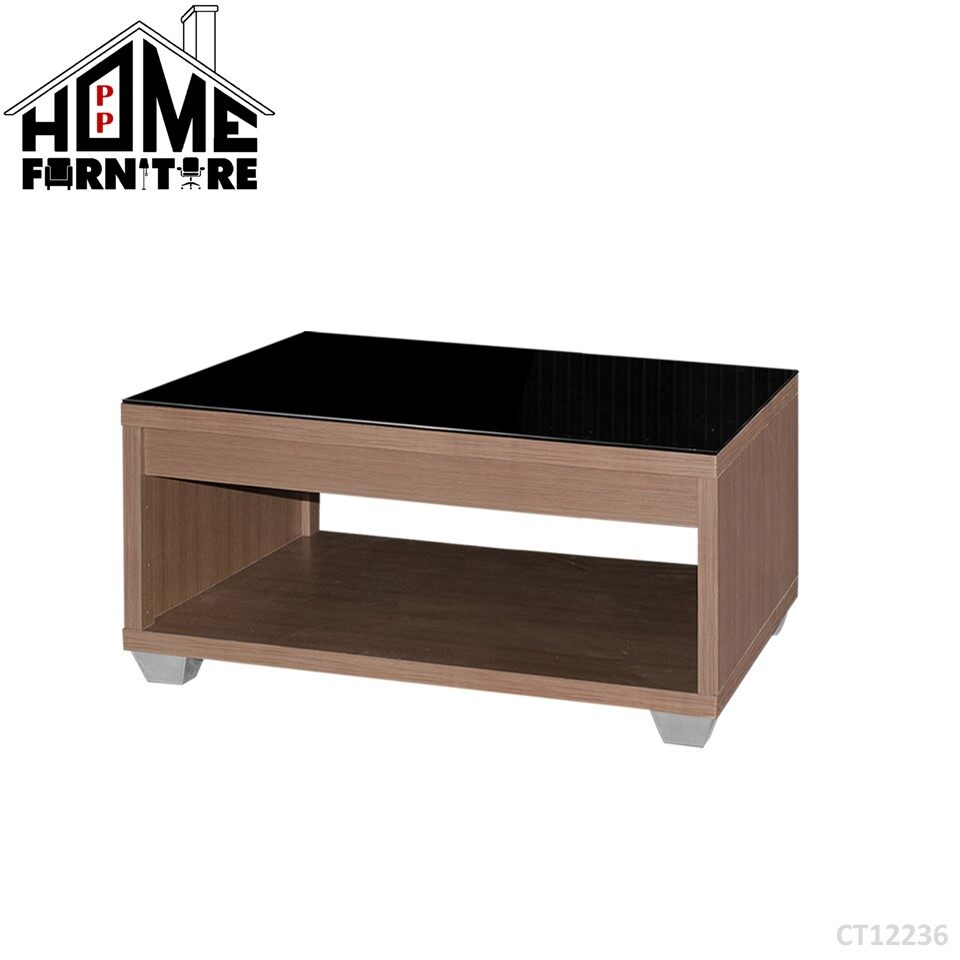 PP HOME CT12236 Coffee table/ Console table/ Display table/ Deco table/ Living room table/ Side table/ Living room table/  Dua lapisan meja kopi/ Meja makan/ Meja konsol/ Meja hiasan/ Meja kopi  咖啡桌/餐桌 WITH glass gelas 玻璃CT12236
