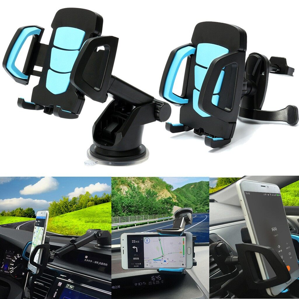 Phone Holder & Stand - 3in1 Universal 360 Car Air Vent Windscreen Dashboard Suction Pad Mount Holder - Cases Covers