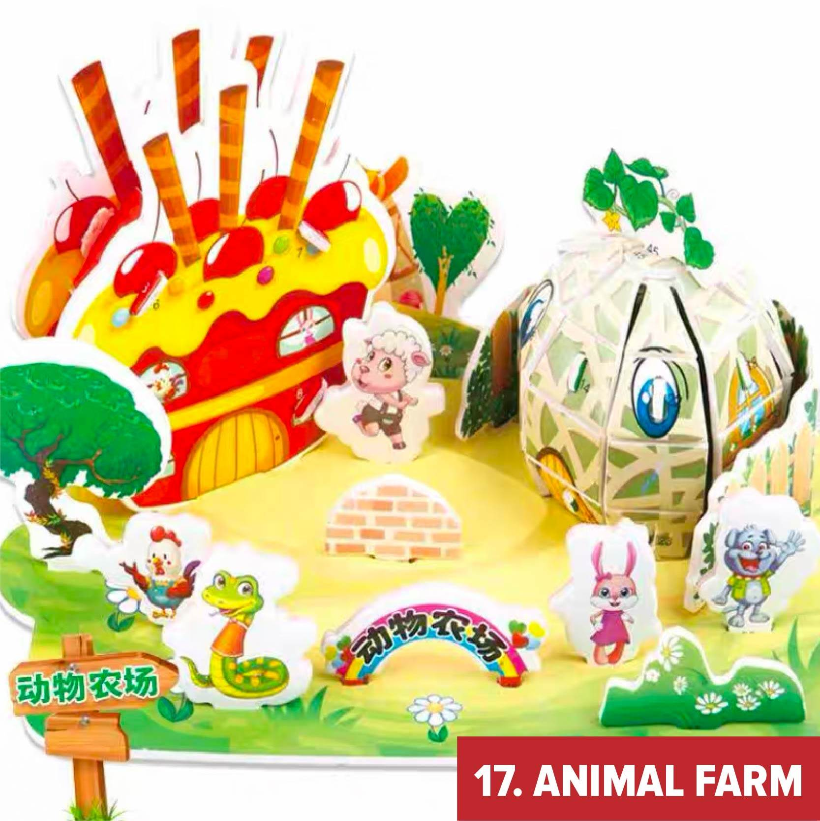APA 3D Puzzle Jigsaw Educational Toys For Kids Architecture Brain Games