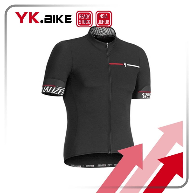 YKBIKE [LOCAL READY STOCK] SPE Black Cycling Jersey Set Team Cycling Kit Short Sleeve And Bib Pant Quickdry Breathable APL112