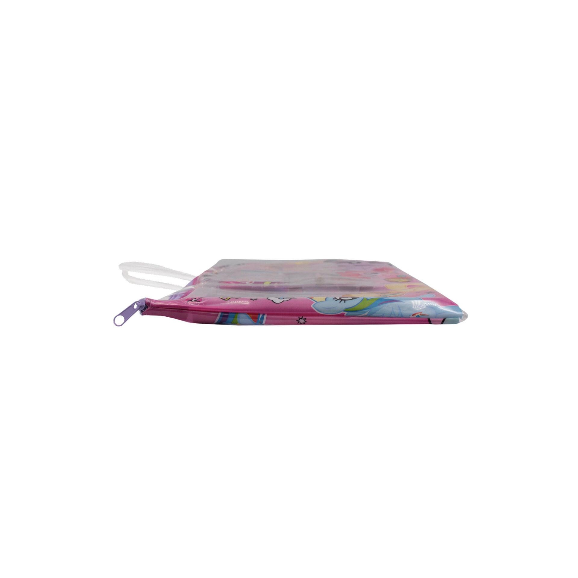 My Little Pony Ville 6 in 1 Stationery Set With Pencil Case Pencil Eraser Ruler Sharperner Notepad (Girls)