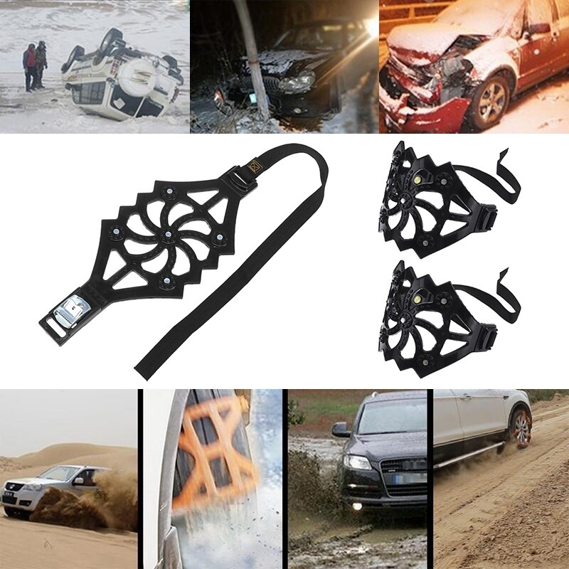 Automotive Tools & Equipment - 1 Piece/3 PIECE(s)/6 PIECE(s) Car Truck Off-Road Snow Anti Skid Chain Auto Tyre Tire Belt Wheel Safty Belt Strap - Car Replacement Parts