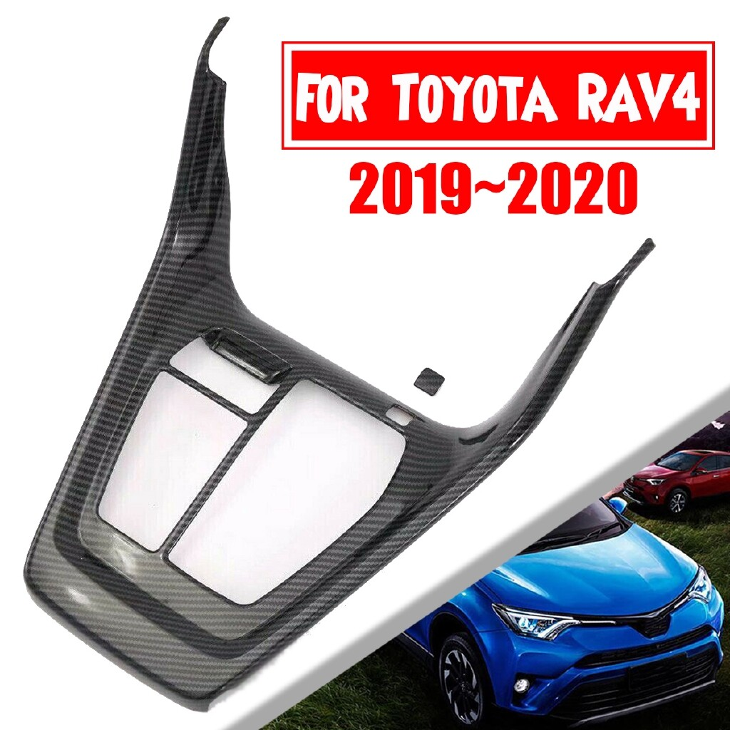 Automotive Tools & Equipment - Carbon Fiber Style Console Gear Shift Box Panel Cover Trim For Toyota RAV4 1920 - Car Replacement Parts
