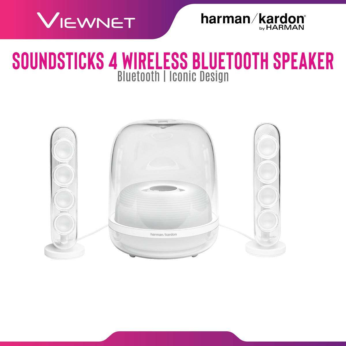 Harman Kardon Soundsticks 4 Wireless Bluetooth 4.2 Speaker, 40Hz-20kHz Frequency response, 80dB Signal-to-noise ratio