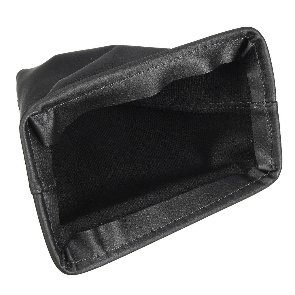 Engine Parts - Black PU Leather Gear Stick Shift Gaiter Boot Cover For Toyota - Car Replacement