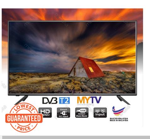 MEGRA 32 INCH LED TV (DVBT-2) Built in MYTV