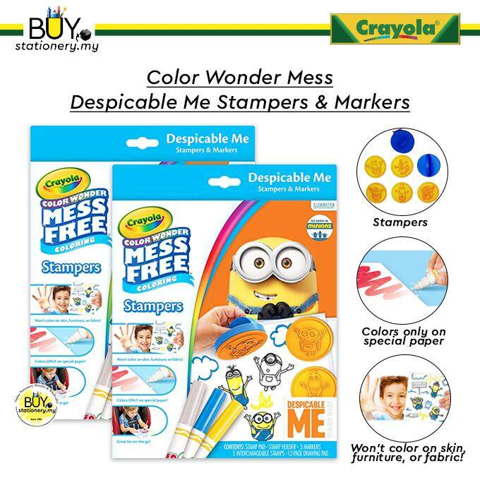 Crayola Color Wonder Mess Despicable Me Minion Stampers & Markers - (SET)