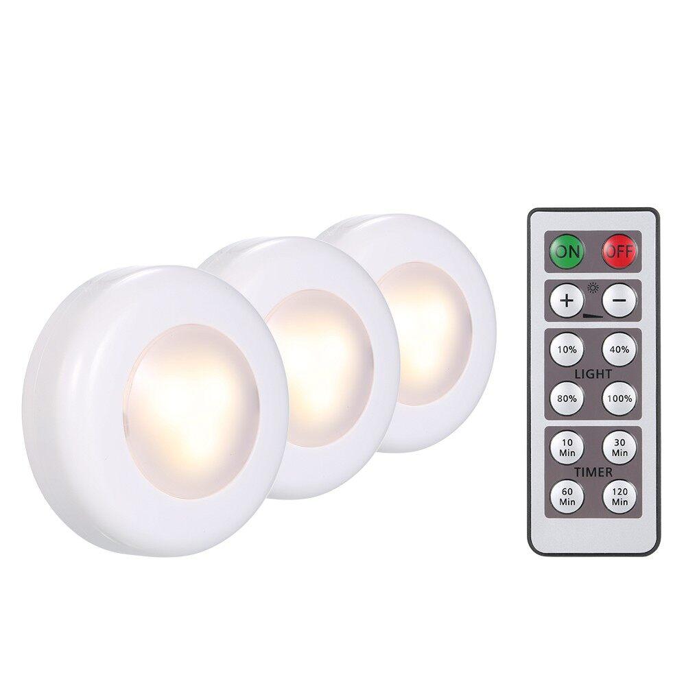 Lighting - LED Under Cabinet Lamp Puck Light 6 Pack with Remote Control Brightness Adjust - 6 PACK / 3 PACK