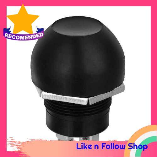 Waterproof Switches Momentary Push Button Switches OFF ON Reset Push Button Switch Black for Car Boat (12~24V/10A) (Standard)