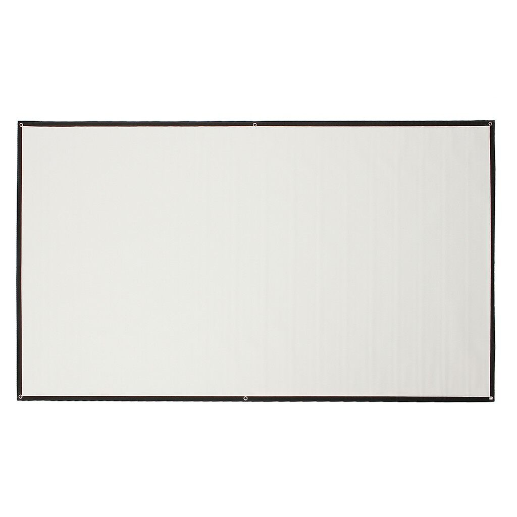 Projectors - PORTABLE 84 Inch 16:9 Fabric Matte Projector Projection Screen To HD Projector