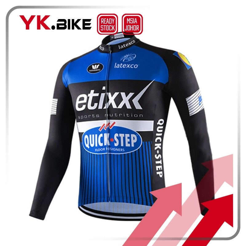 YKBIKE [LOCAL READY STOCK] Cycling Jersey Long Sleeve Comfortable Sun Protect Road Bike Tops MTB Downhill Jersey APL52