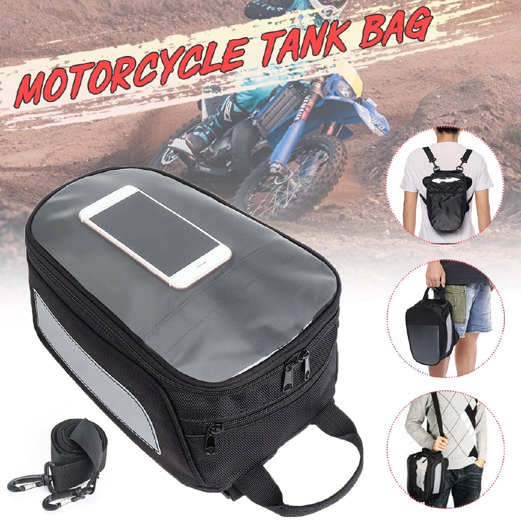 Moto Accessories - Waterproof Motorcycle Oil Fuel Tank Magnetic Bag Phone Pouch for Honda Yamaha - Motorcycles, Parts