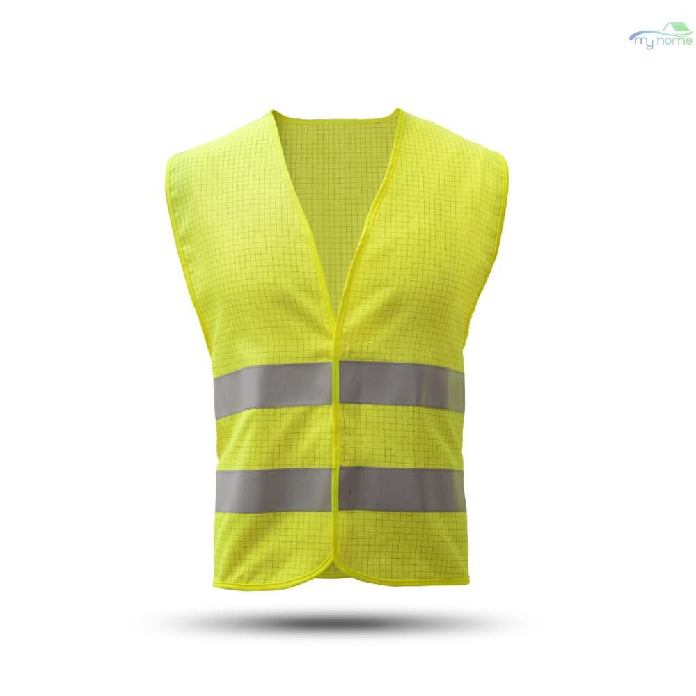 Protective Clothing & Equipment - High Visibility Reflective Safety Vest Reflective Polyester Knitted Vest Workwear Security Working - YELLOW