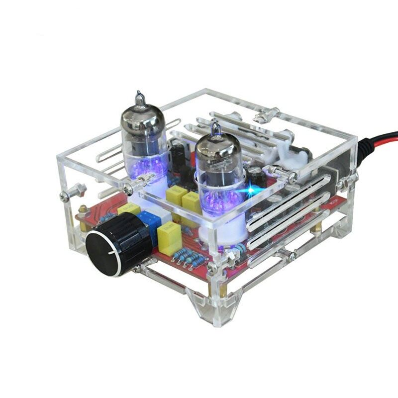 HiFi 6J1 class A Bile Tube Preamplifier amplifier Audio finished Acrylic chassis