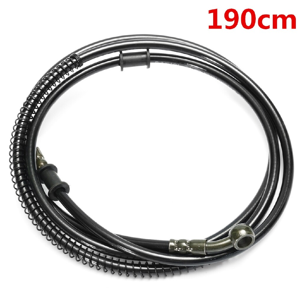 Moto Accessories - 50cm - 190cm Motorcycle Bike Brake Clutch Throttle Cable Oil Hose Line Pipe - 200CM / 190CM / 180CM / 110CM / 160CM / 100CM / 150CM / 80CM / 140CM / 70CM / 130CM / 60CM / 120CM / 50CM