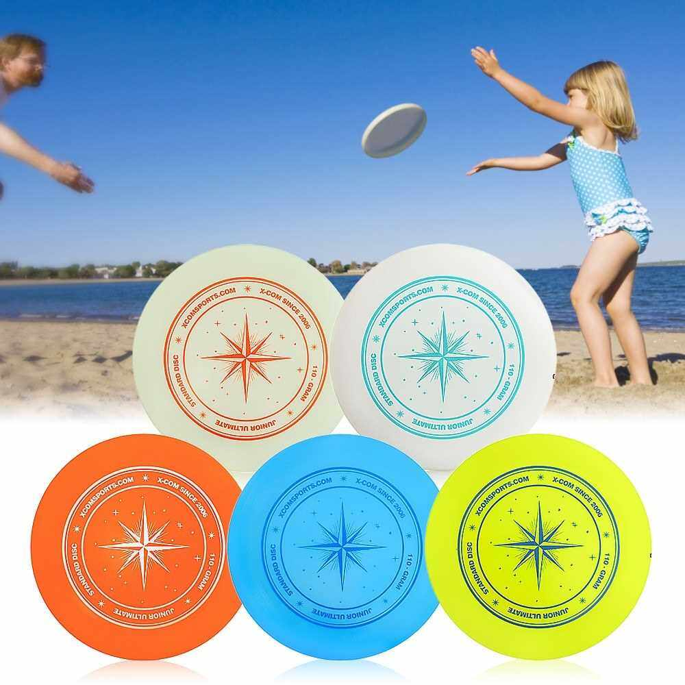People's Choice 9.3 Inch 110g Plastic Flying Discs Outdoor Play Toy Sport Disc for Juniors (White+Blue)