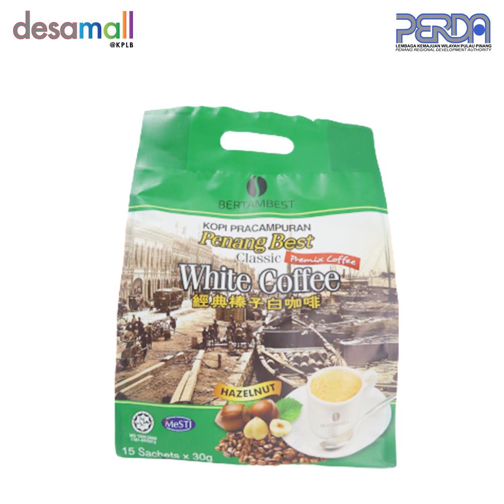 BERTAMBEST Penang Best White Coffee Classic - Hazelnut (15 sachets x 30g)