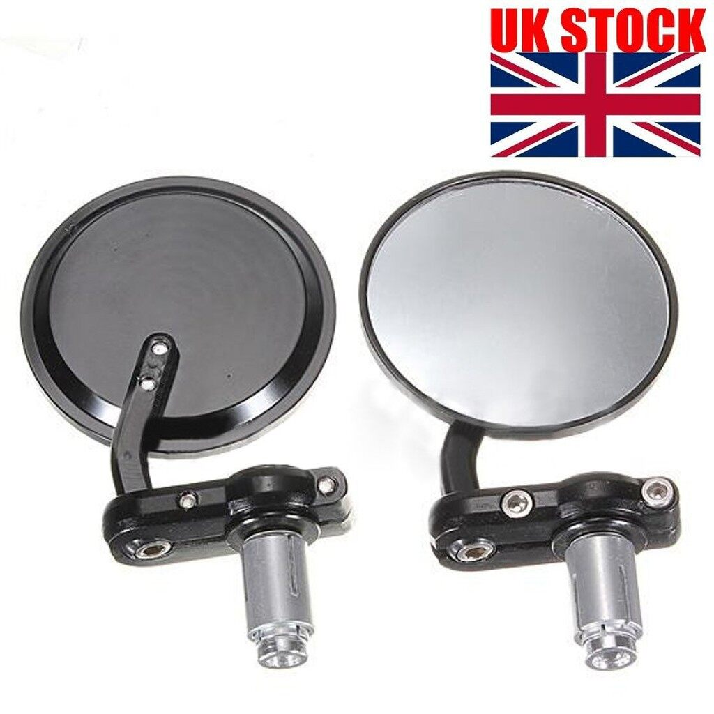 Moto Spare Parts - Motorcycle Round Handle Bar End Side Mirror Bobber - Motorcycles, & Accessories