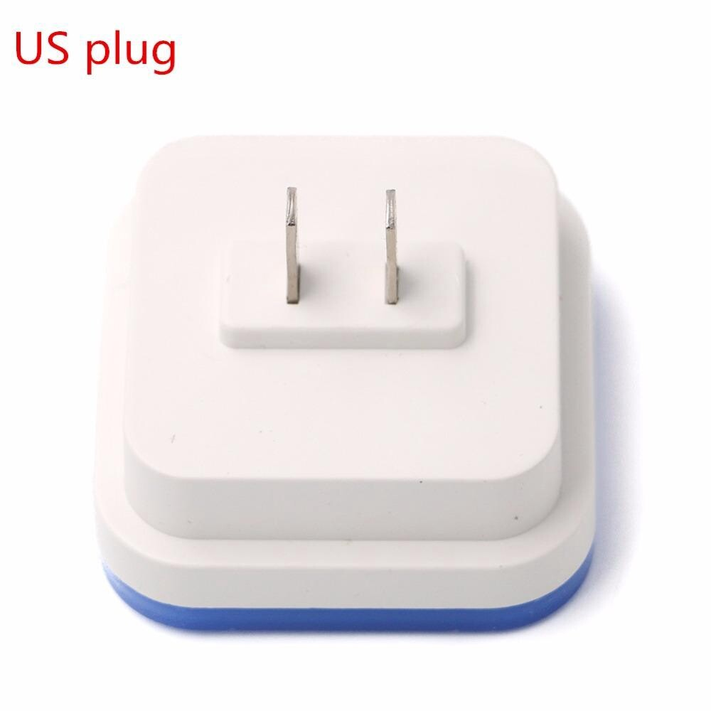 MINI Night Light Sensor Control US Plug Square Bedroom Lamp for Baby Nightlight - YELLOW / WHITE / BLUE / RED