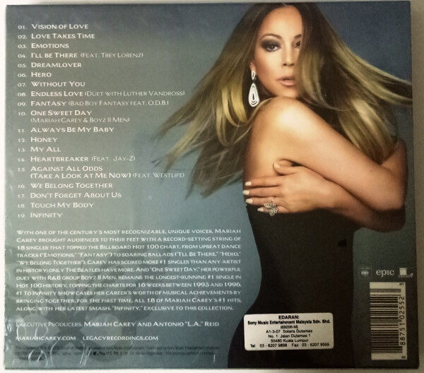 MARIAH CAREY Greatest Hits #1 To Infinity CD Original New And Sealed