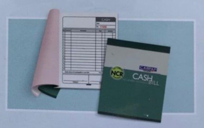 "CAMPAP CA6841 146x175mm 2ply x 30 NCR BILL BOOK without ""RM"" x 10pcs"