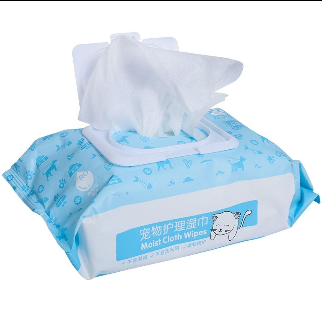 (NEET NEKO) Pet Moist Cloth Wipes (100pcs) Wet Tissue for Pet / Baby pet must have /wet tissue for cat / wet tissue for dog