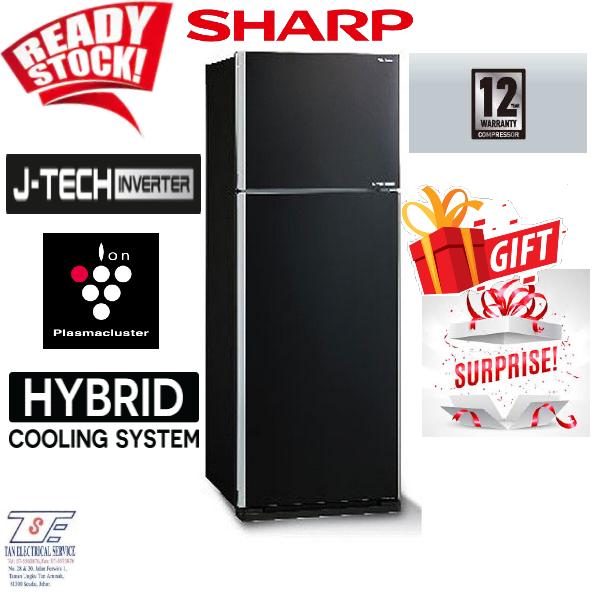 Sharp Refrigerator SJE438MK/S SJE538M/S (BLACK/SILVER) 440L/540L Nano Deodoriser Fridge 12 Years Warranty on Compressor