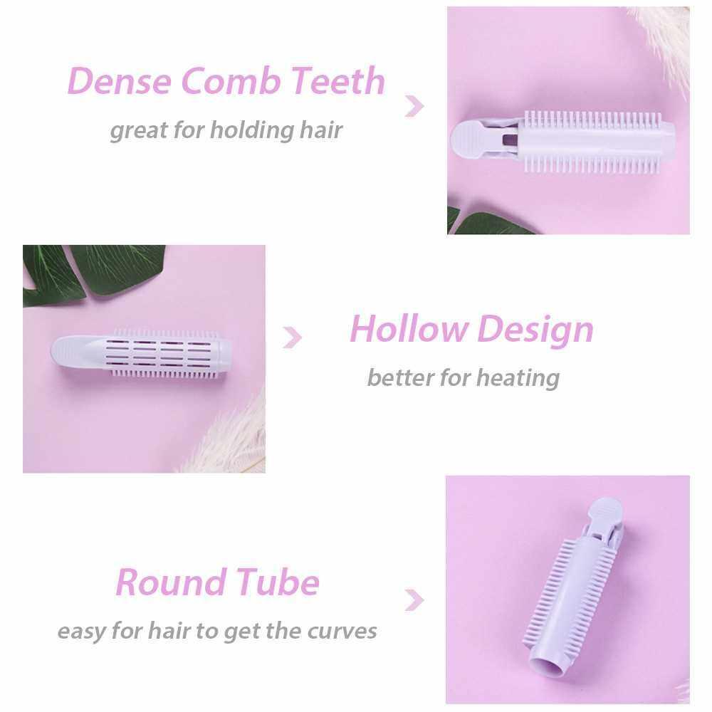2PCS Bouffant Hair Clip Hair Roller Clip Hair Curler Clip Hair Styling Clip (Purple)