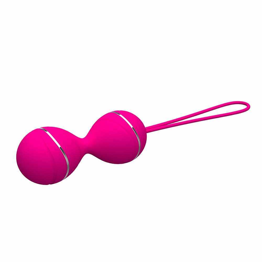 Silicone Kegel Balls Vaginal Tight Exercise Vibrating Masturbation Eggs Remote Control Sex Toys (Rose Red)