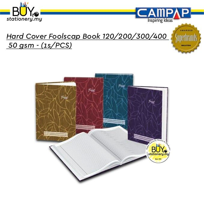Campap Hard Cover FoolScrap Book 120/200/300/400 50 gsm - (1s/PCS)