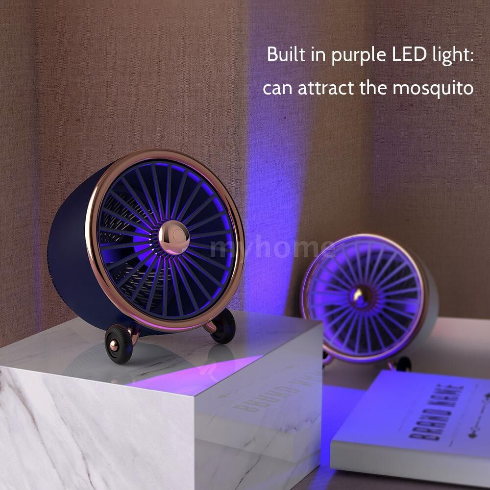 Lighting - DC5V/1A 2W Electric Bug Zapper Lamp Indoor with Fan USB plug Aircraft Engine Model Mosquito Trap - BLUE / PINK / WHITE