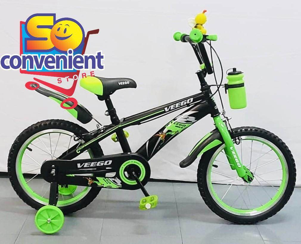 16  Veego Kids Bicycle 1641 with Alloy Colour Rim and Bottle