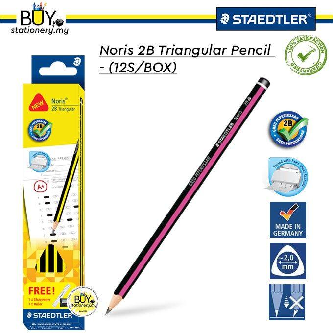 Staedtler Noris 2B Triangular Pencil - (12s/BOX)