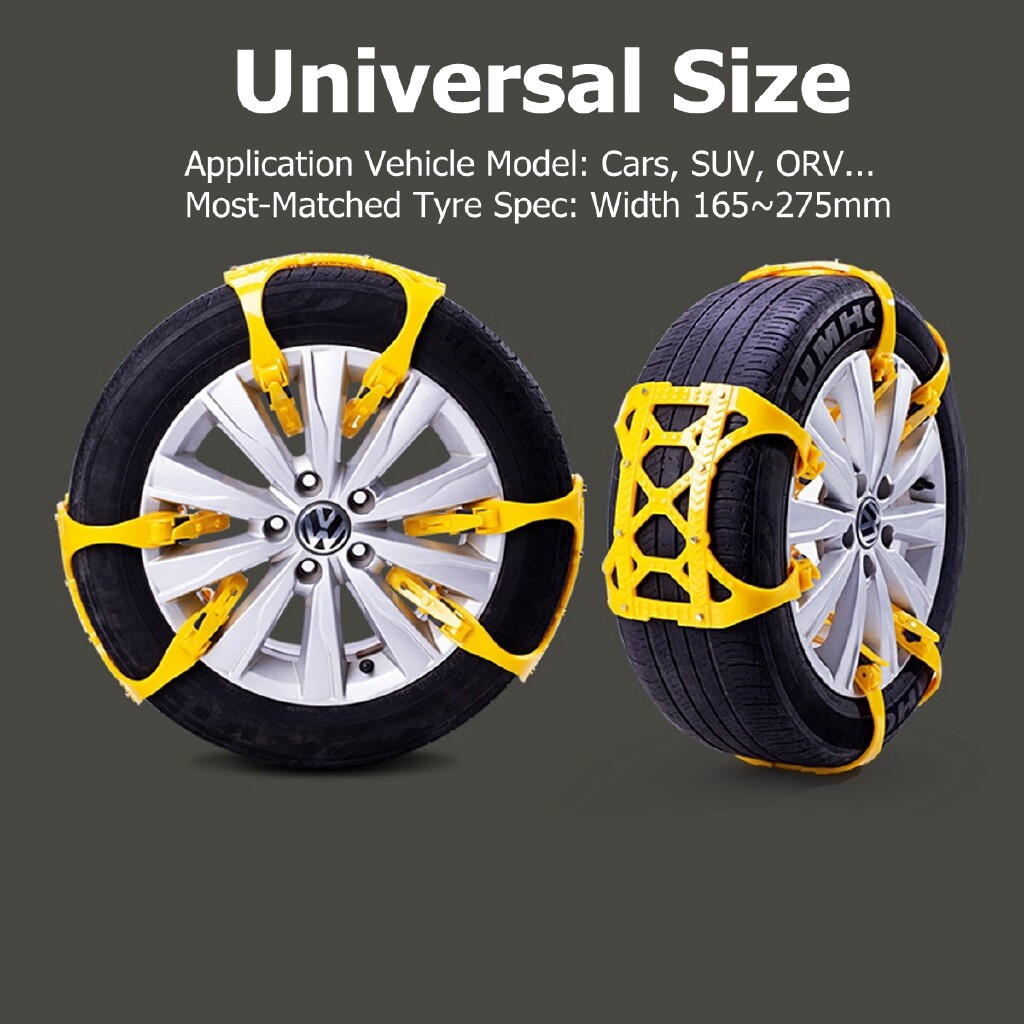 Automotive Tools & Equipment - 1/3 PIECE(s) Winter Rainy Snow Day TPU Snow Chains Snow Tire Chain Emergency Tool - 6 PIECSE