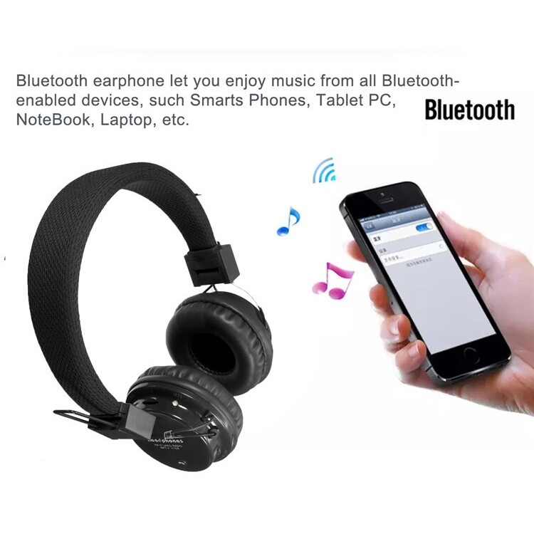 Over-Ear Headphones - Foldable WIRELESS BLUETOOTH Stereo Head SET Headphone Earphone w/Mic USB/DC TF - GREEN / RED / ARMY GREEN / WHITE / ORANGE / BLACK / CAMBRIDGE BLUE / PURPLE / DARK BLUE / PINK