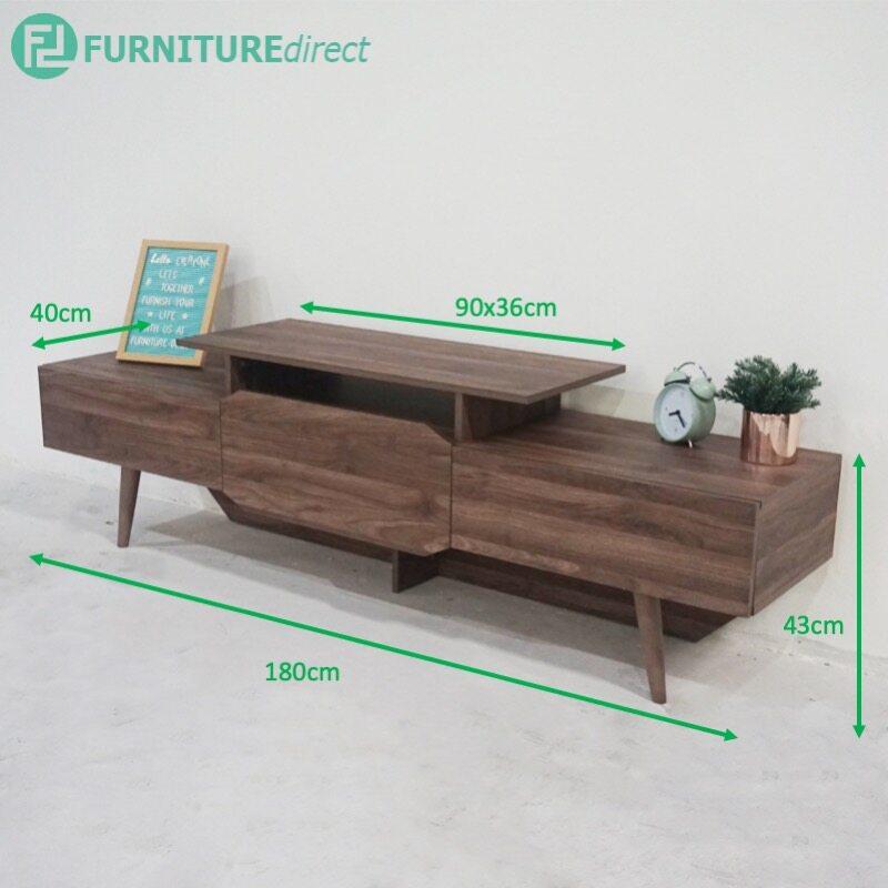 TAD MAJA 6 feet TV cabinet with 2 drawers - Walnut TV-900042