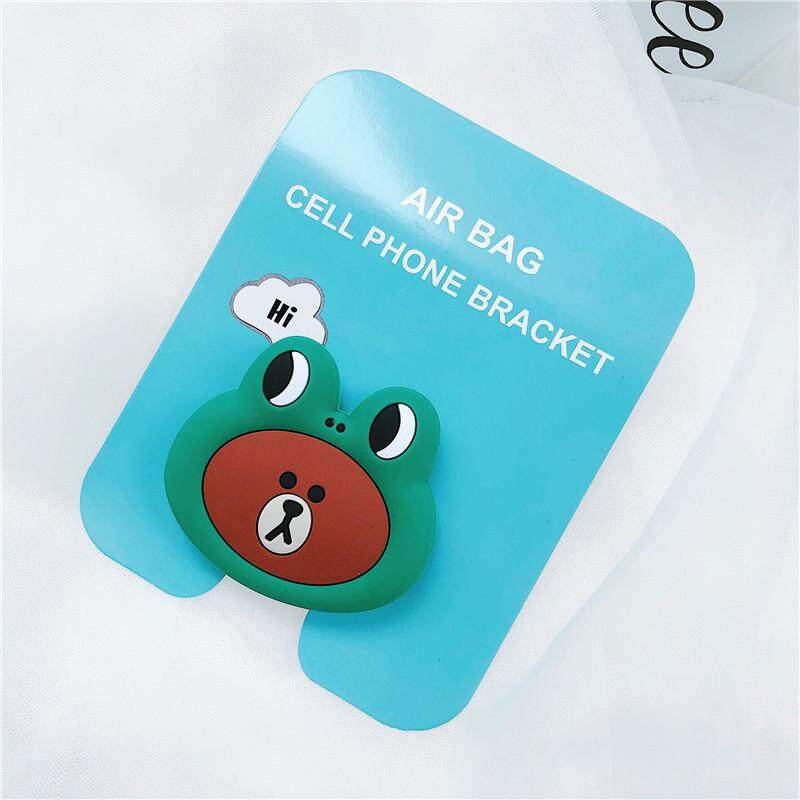 Cute Animal Green Frog Bear2 Pattern Airbag Cellphone Bracket Phone Stand Holder