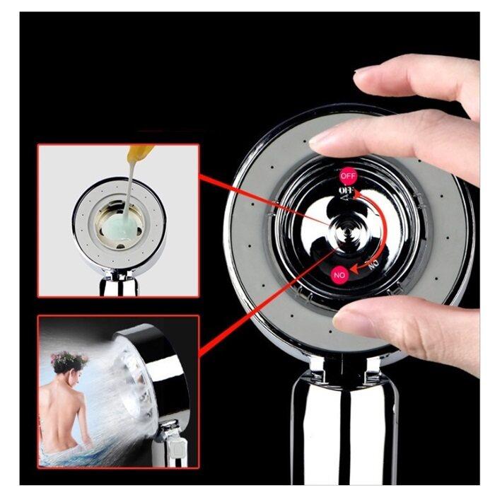 Shower Head High Pressure Bathroom Shower Sprayer Shower Water Saving Showerhead Double Side