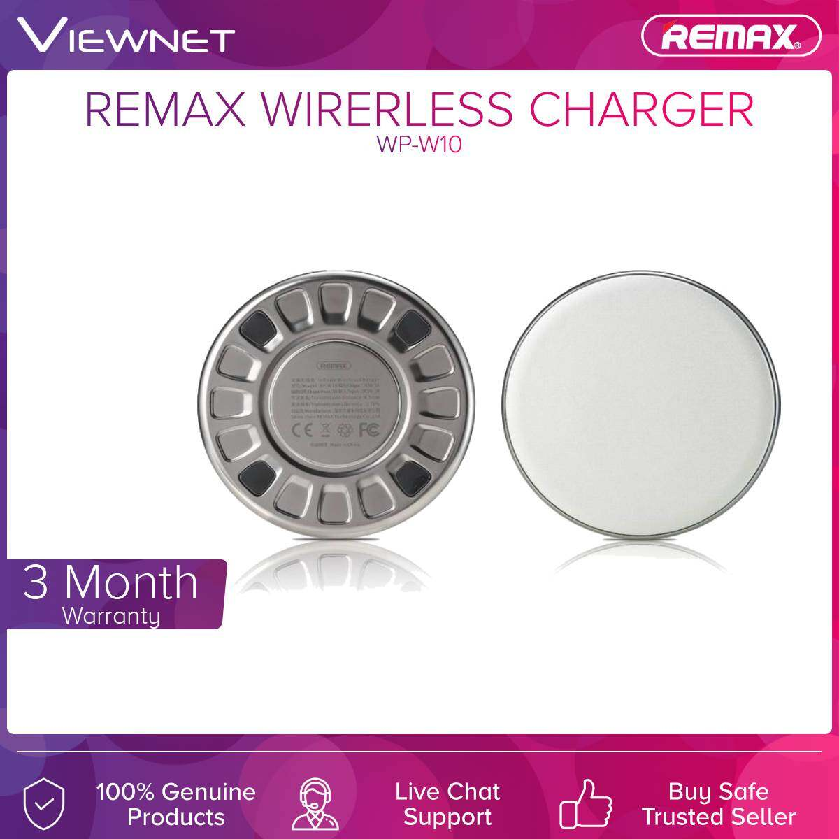 Remax (RP-W10) Infinite Wireless Charger 5W