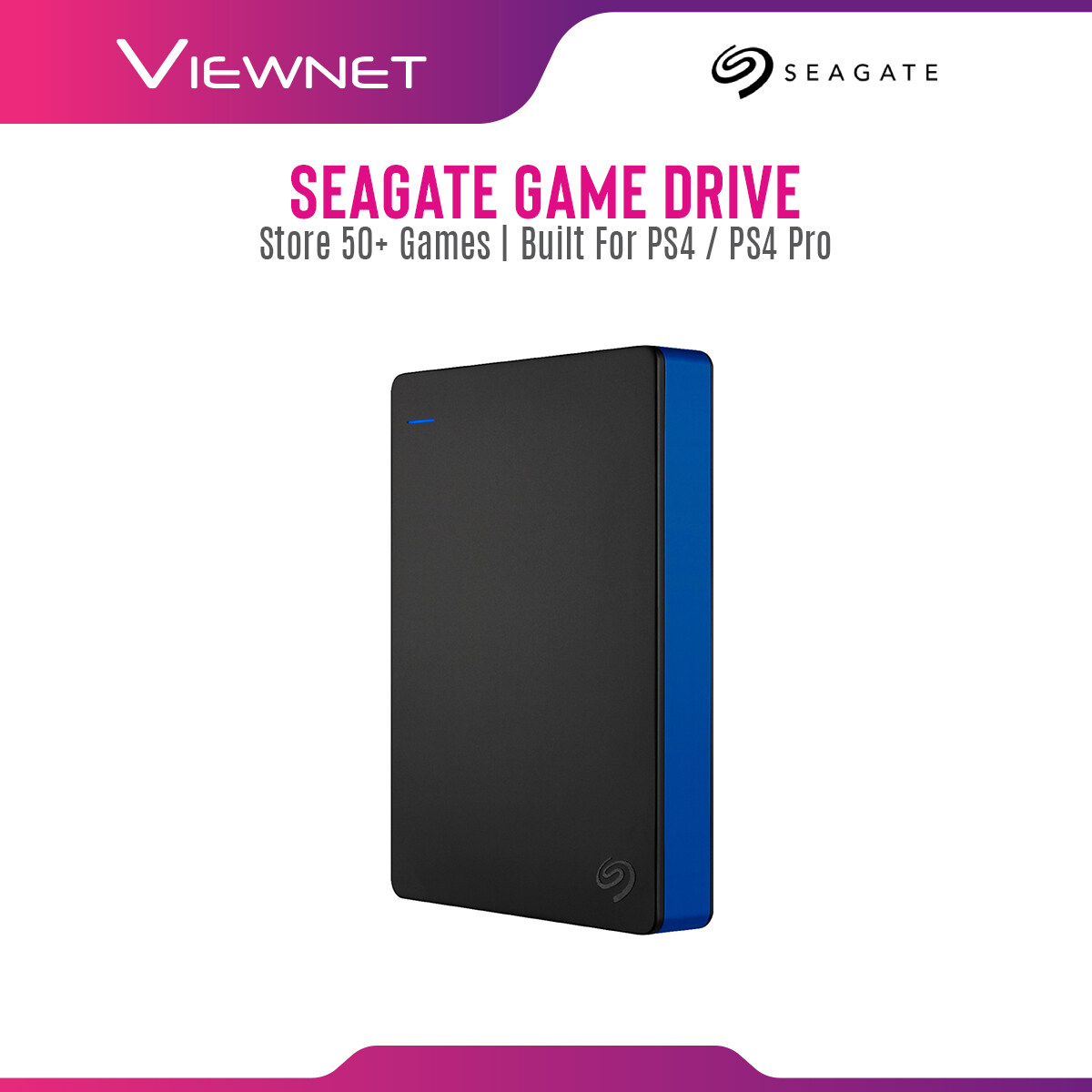 Seagate Game Drive 2TB / 4TB For PS4 / PS4 Pro with USB 3.0 Connection, Quick Setup, Store Up To 50+ Game