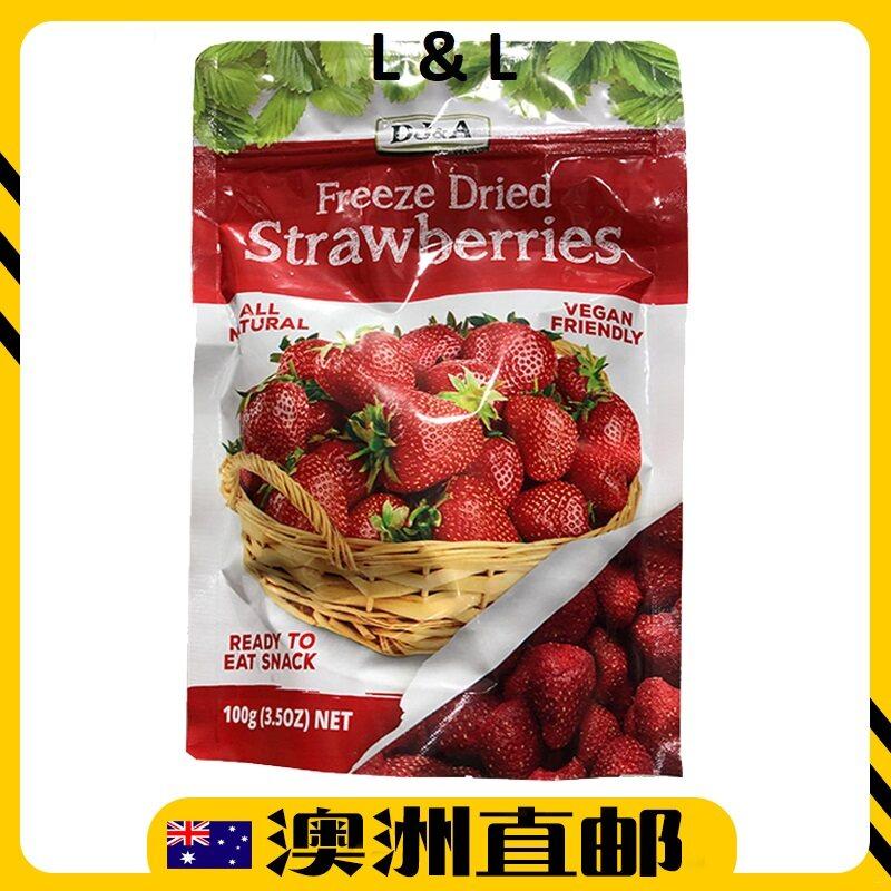 [Pre Order] Australia Costco DJ&A Freeze Healthy Snack Dried Strawberries ( 100g ) (Import from Australia)