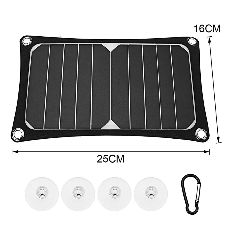 Car Electronics - PORTABLE Solar Panel USB Camping 3000mah Battery Charger Power Bank 5V 5W 1A - Automotive