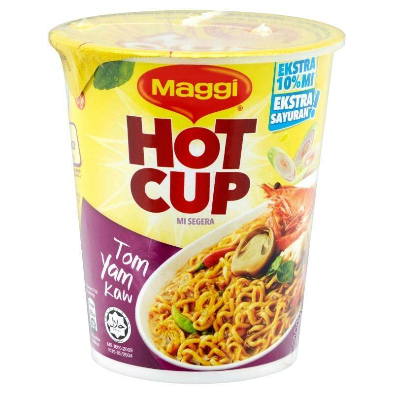Maggi Hot Cup Instant Noodles TOM  YAM KAW (61G) READY STOCK