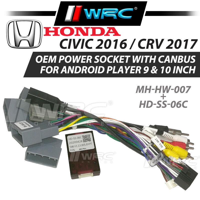 """OEM Power Socket With Canbus Honda Civic 2016 / CRV 2017 For Android Player 9"""" / 10"""""""