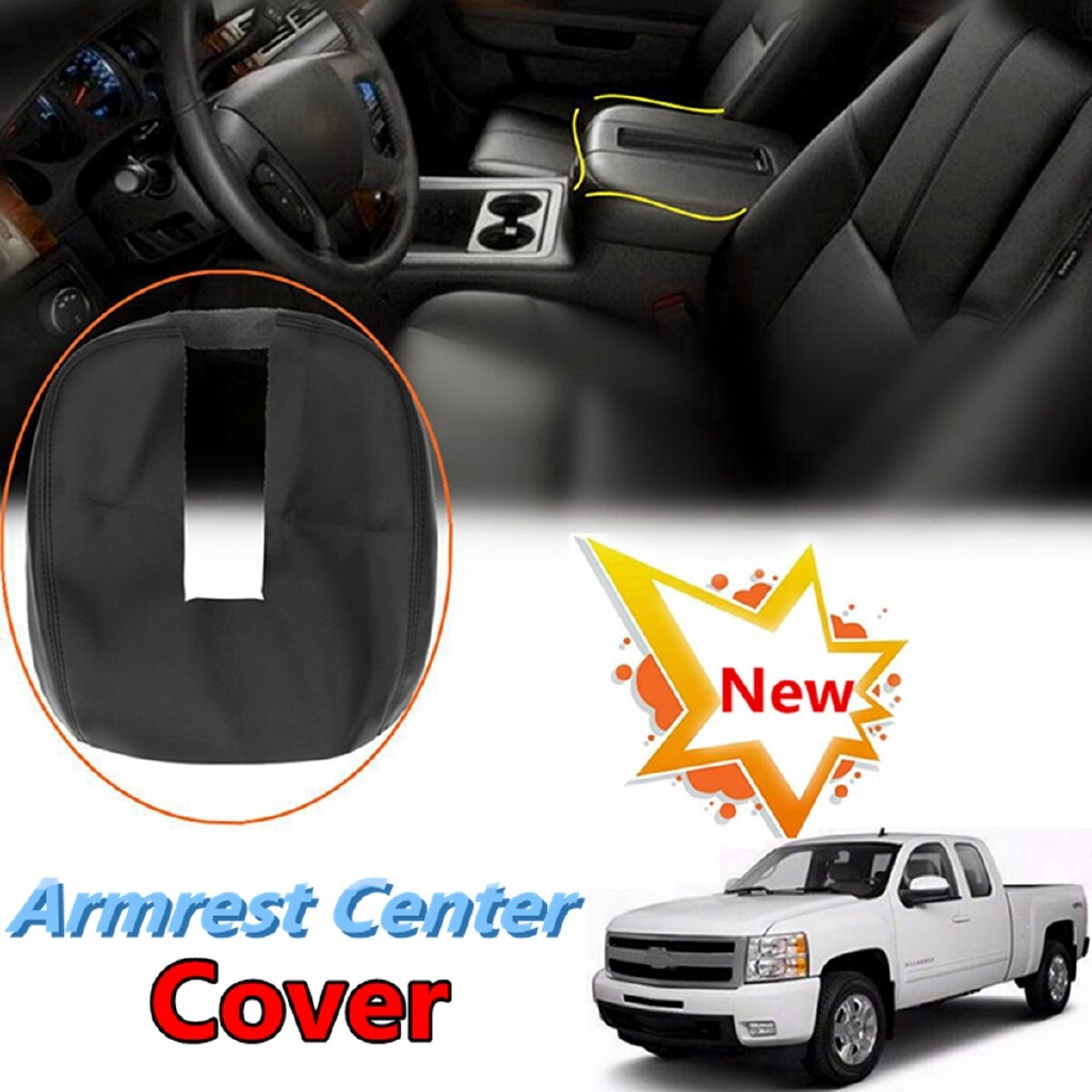 Organizers - Console Lid Armrest Cover PU Leather For 07-13 Chevy Tahoe Suburban Yukon Sierra - Car Accessories