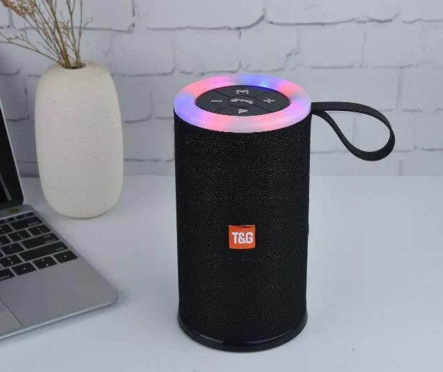 TG-512 TG512 BLUETOOTH PORTABLE WIRELESS SPEAKER WITH LED FLASHIG LIGHT (Fresh Import) High Quality BLACK