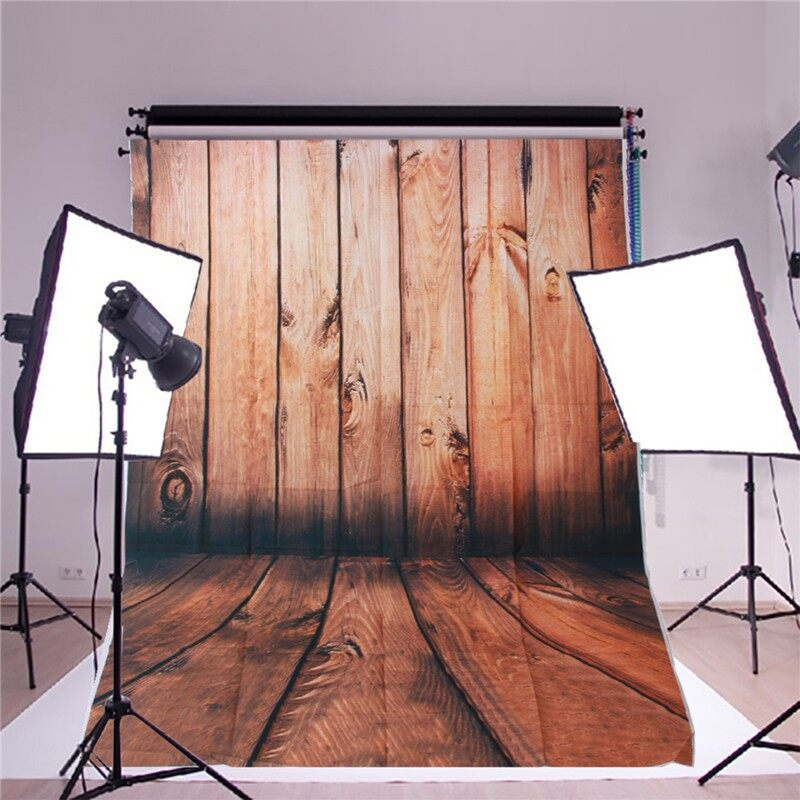 Lighting and Studio Equipment - 3x5FT Wood Wall Floor Vinyl Photography Backdrop Background Studio Photo Props - Camera Accessories